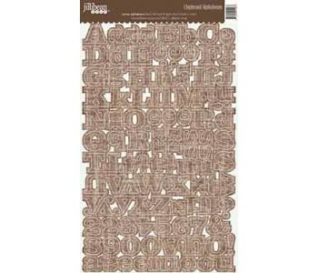Chipboard Alphabeans - Canvas