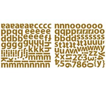 Mini Alpha Stickers - Chocolate Glitter