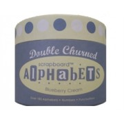 Double Churned Scrapboard Alphabets - Blueberry Cream