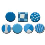 Color Block Brads - Blues