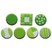 Color Block Brads - Greens