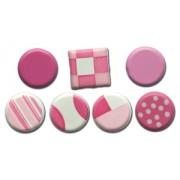 Color Block Brads - Pinks