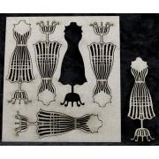 Mini Wire Dress Form 5pk