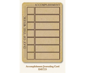 Accomplishment Journal Card
