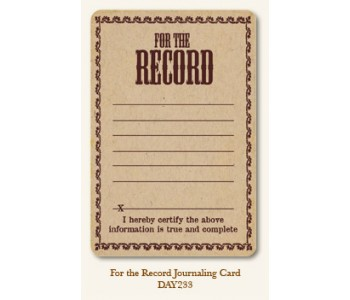 For The Record Journal Card