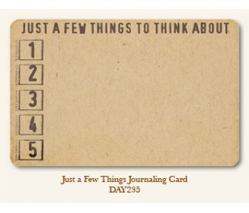 Just A Few Things Journal Card