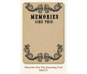 Memories Like This Journal Card