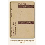 Necessities/Optional Journal Card
