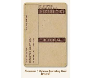 Necessities/Optional Journal Card
