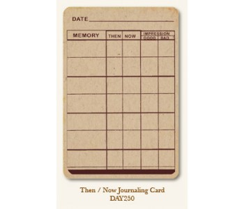 Then/Now Journal Card