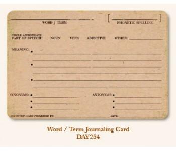 Word/Term Journal Card