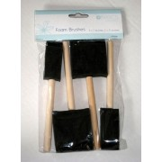 Foam Brushes - Pack 3